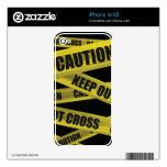 Piel de la cinta de la precaución - iPhone 4S Calcomanías Para El iPhone 4