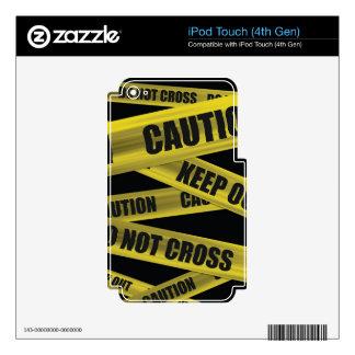 Piel de la cinta de la precaución - iPod iPod Touch 4G Calcomanía