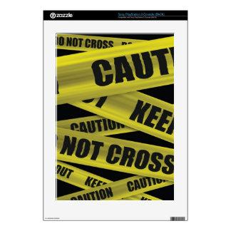 Piel de la cinta de la precaución - Playstation Calcomanías Para El PS3
