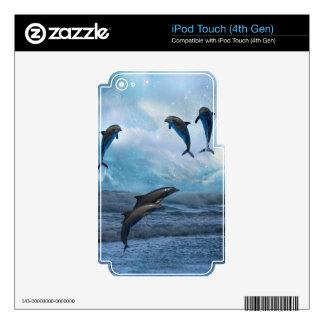 Piel de la fantasía de los delfínes iPod touch 4G calcomanía