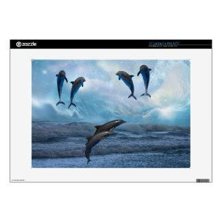 Piel de la fantasía de los delfínes skins para 38,1cm portátil