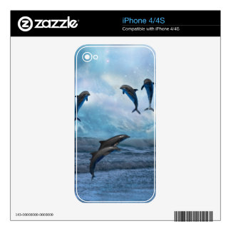 Piel de la fantasía de los delfínes skins para iPhone 4S