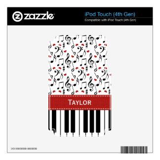 Piel de la GEN 4g del tacto de iPod del piano de l iPod Touch 4G Skin