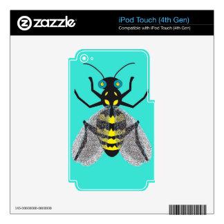 piel de la GEN del tacto de iPod 4ta con la abeja Calcomanías Para iPod Touch 4G
