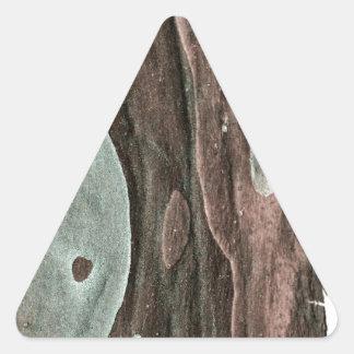 Piel de la goma pegatinas de triangulo
