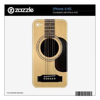 Piel de la guitarra acústica calcomanías para iPhone 4S