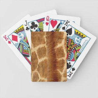 Piel de la jirafa barajas de cartas
