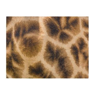 Piel de la jirafa (Giraffa Camelopardalis) Cuadro De Madera