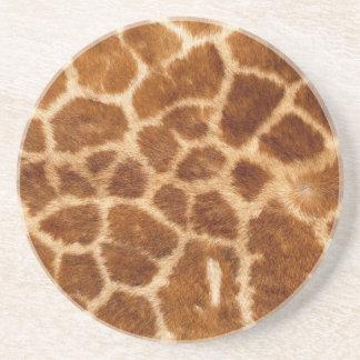 Piel de la jirafa posavasos personalizados