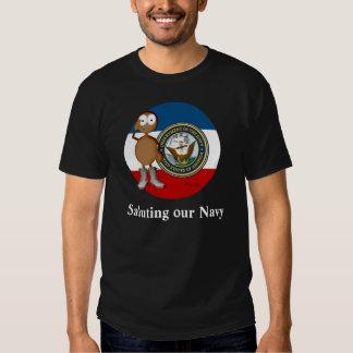 Piel de la oscuridad de la marina de guerra remeras