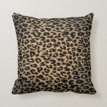 Piel de la piel del estampado leopardo del vintage cojines