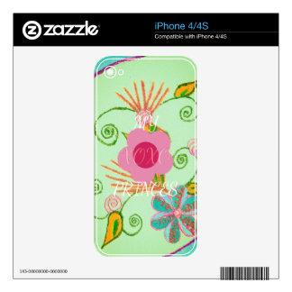 Piel de la protección del dispositivo del vinilo calcomanías para iPhone 4S
