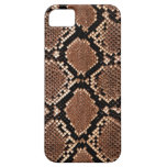 Piel de la serpiente de la serpiente de cascabel f iPhone 5 funda