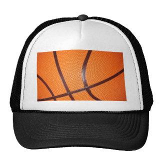 Piel de la textura del primer del baloncesto gorra