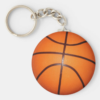 Piel de la textura del primer del baloncesto llavero redondo tipo pin