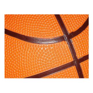 Piel de la textura del primer del baloncesto postal