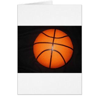 Piel de la textura del primer del baloncesto tarjeta de felicitación