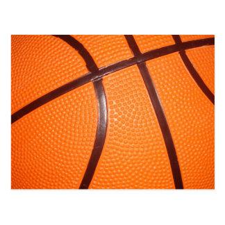 Piel de la textura del primer del baloncesto postales
