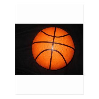 Piel de la textura del primer del baloncesto tarjetas postales