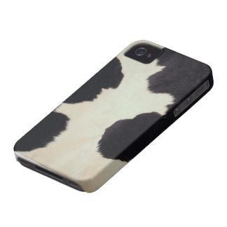Piel de la vaca iPhone 4 Case-Mate cárcasa