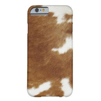 Piel de la vaca funda barely there iPhone 6