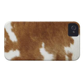 Piel de la vaca iPhone 4 Case-Mate protector