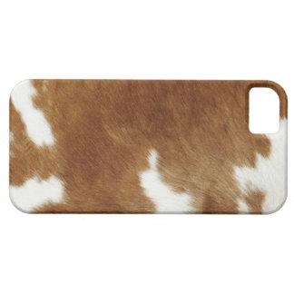Piel de la vaca iPhone 5 fundas