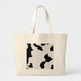 Piel de la vaca lechera bolsa tela grande