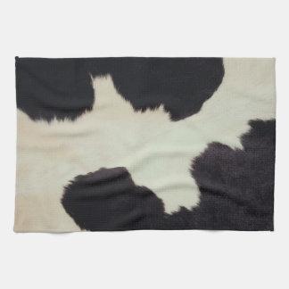 Piel de la vaca toallas de mano