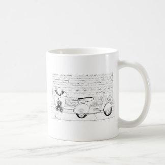 Piel de la vespa tazas de café
