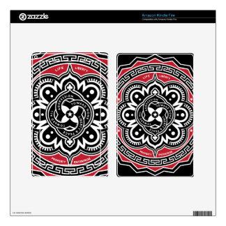 Piel de las insignias de la No-Agresión Pegatina Skin Para Kindle Fire