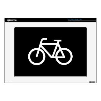 Piel de Latop del pictograma de la bicicleta Calcomanía Para 38,1cm Portátil