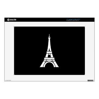 Piel de Latop del pictograma de la torre Eiffel Skins Para 38,1cm Portátiles