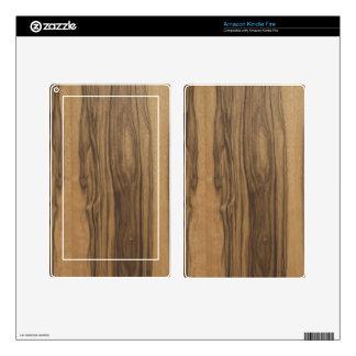 Piel de madera del iPad 3 de la cebra por LibertyM Kindle Fire Pegatina Skin
