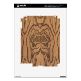 Piel de madera del iPad 3 de la cebra por LibertyM iPad 3 Pegatinas Skins