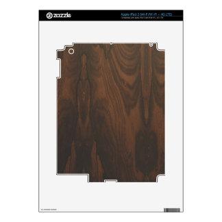 Piel de madera oscura del iPad 3 por LibertyManiac Pegatinas Skins Para iPad 3