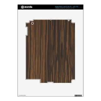 Piel de madera oscura del iPad 3 por LibertyManiac iPad 3 Pegatina Skin