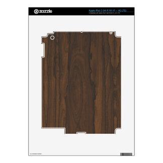 Piel de madera oscura del iPad 3 por LibertyManiac iPad 3 Pegatinas Skins