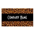 Piel de moda del guepardo tarjetas de negocios