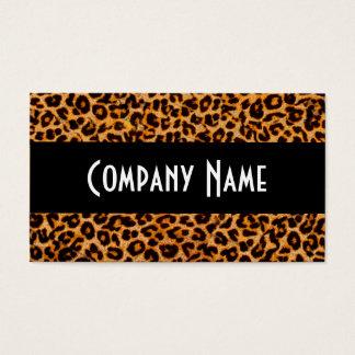 Piel de moda del guepardo tarjetas de visita