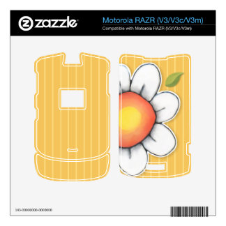 Piel de Motorola RAZR V3 V3c V3m del amarillo de Motorola RAZR Skin