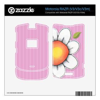Piel de Motorola RAZR V3 V3c V3m del rosa de la Motorola RAZR Skins