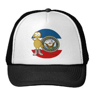 Piel de oro de la marina de guerra gorros bordados