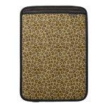 Piel de oro del leopardo fundas MacBook