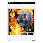 Piel de Playstation 3 del lobo gris y de las llama Calcomanía Para El PS3 Slim