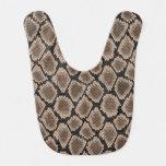 Piel de serpiente babero de bebé