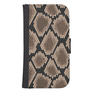 Piel de serpiente billeteras para teléfono