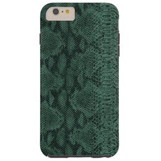 Piel de serpiente de cuero magnífica de la textura funda para iPhone 6 plus tough