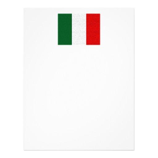 Piel de serpiente de la bandera de Italia Flyer A Todo Color