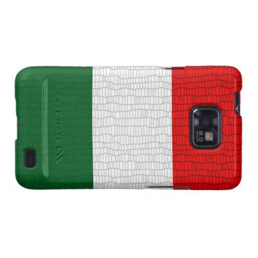 Piel de serpiente de la bandera de Italia Galaxy S2 Carcasa